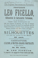 Advert for Professor Leo Ficello, photographer